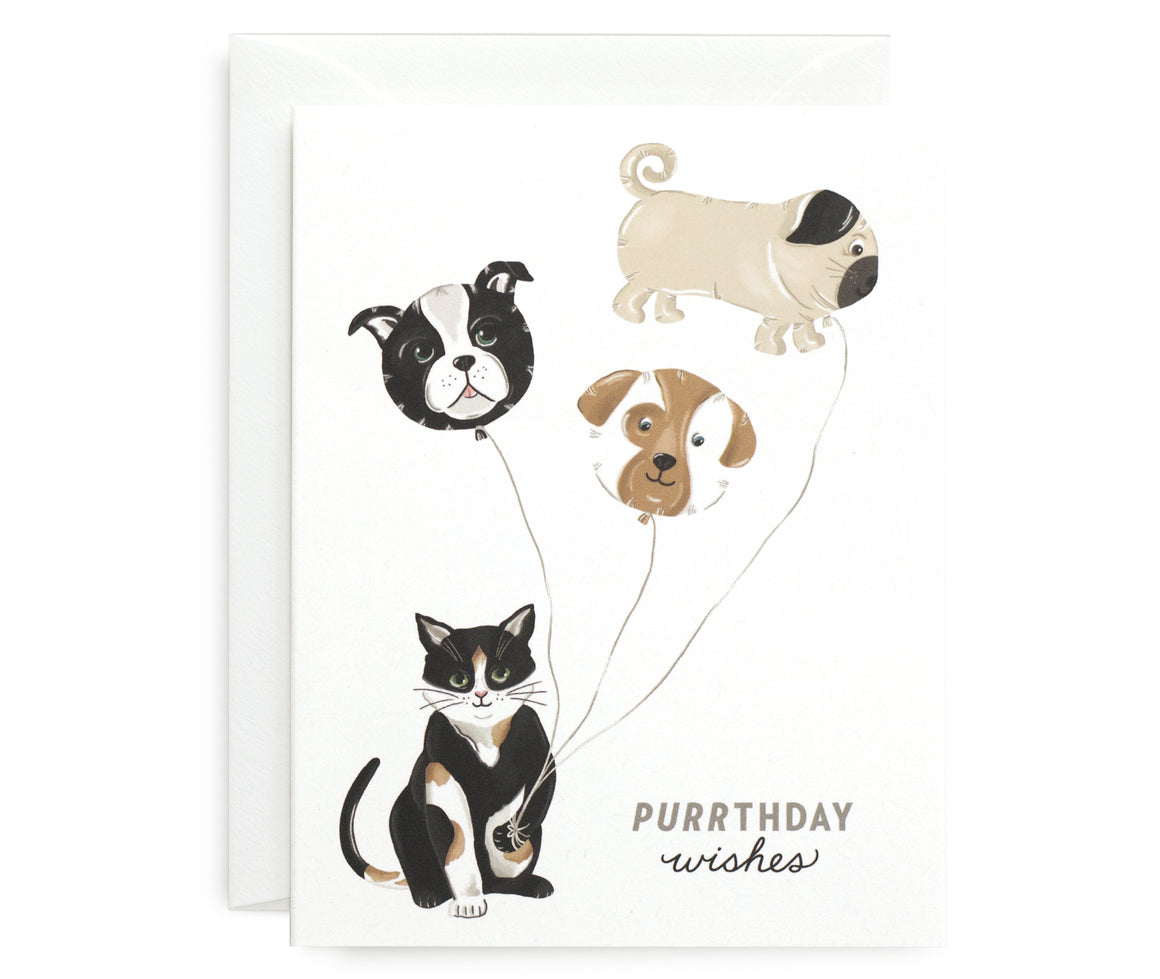 Purrthday Wishes Card