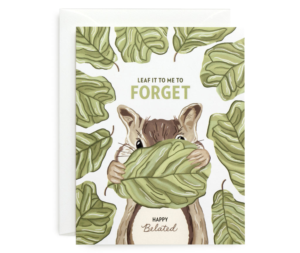 Forgetful Chipmunk Card