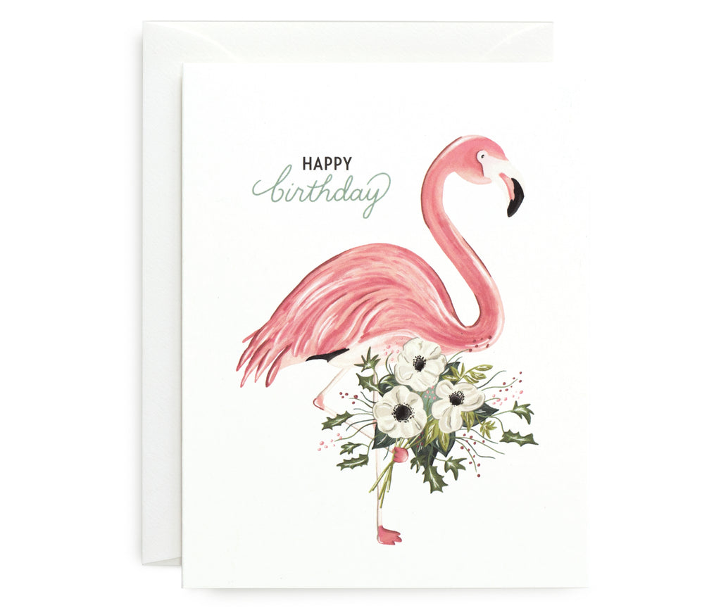 Flamingo Bouquet Card