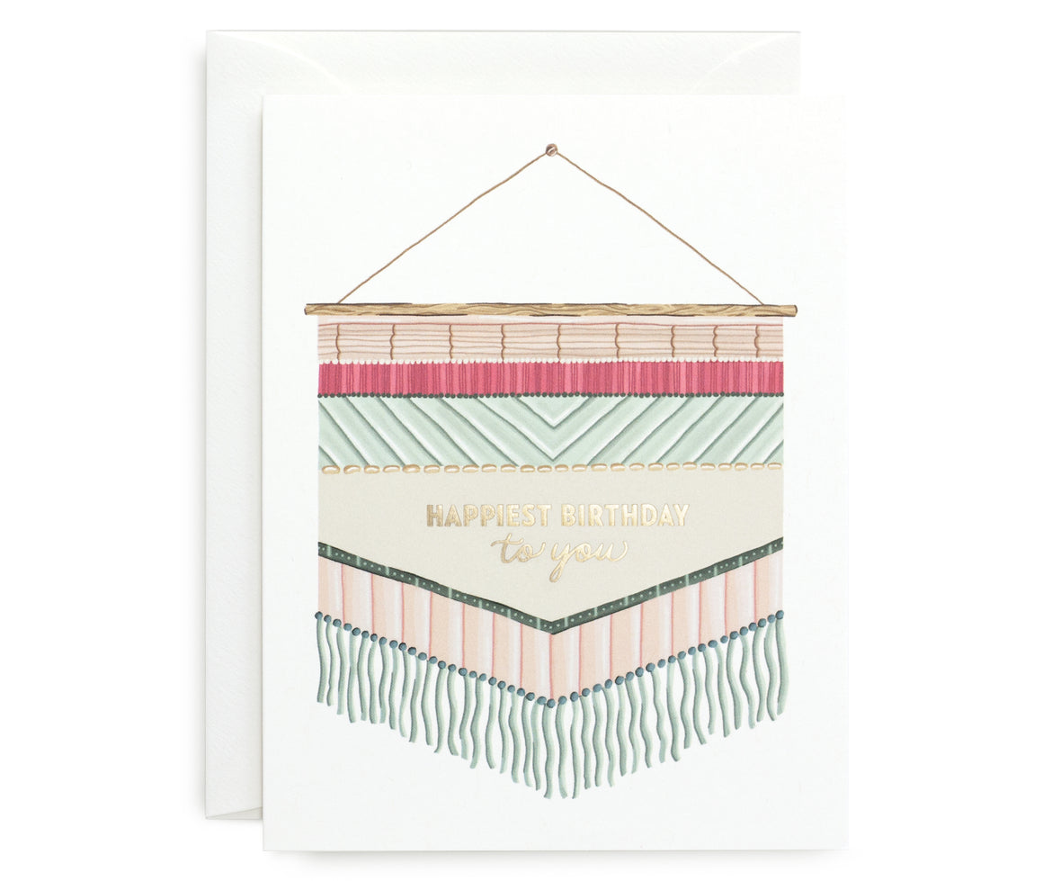 Tapestry Birthday Card
