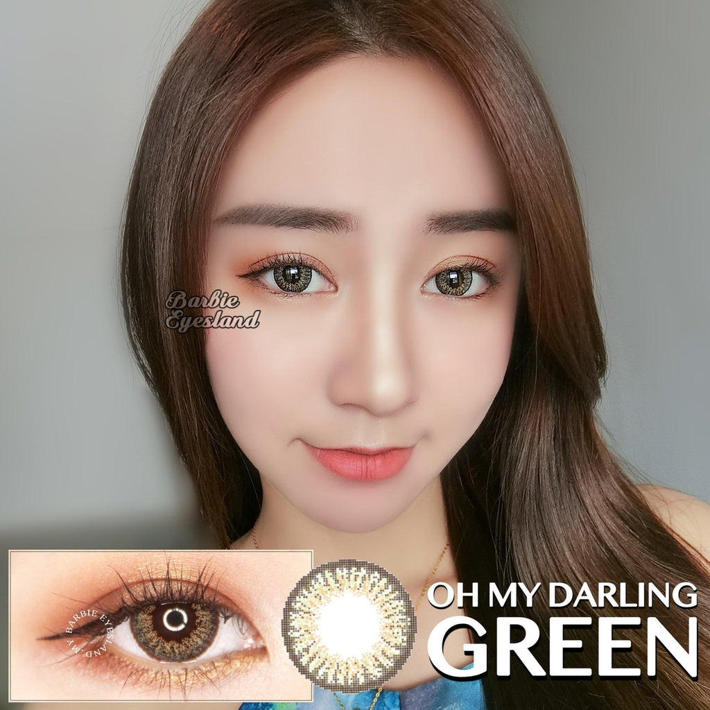 Oh My Darling Green 15mm-Contact Lenses-Barbie Eyesland Contact lens
