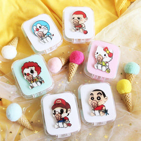 Cartoon Design 01 Lens Case Set *Rectangle (Random Color)