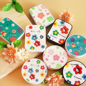 Flower Design Round / Rectangle Lens Case Set *Random Design