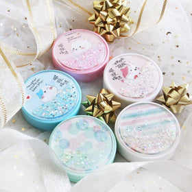 Lovely Flowing Sand Design Lens Case Set (Random Color)