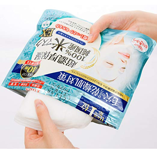 Kose Clear Turn Pure Domestic Rice Face Mask Ex *40Sheet-Beauty Products-Barbie Eyesland Contact lens
