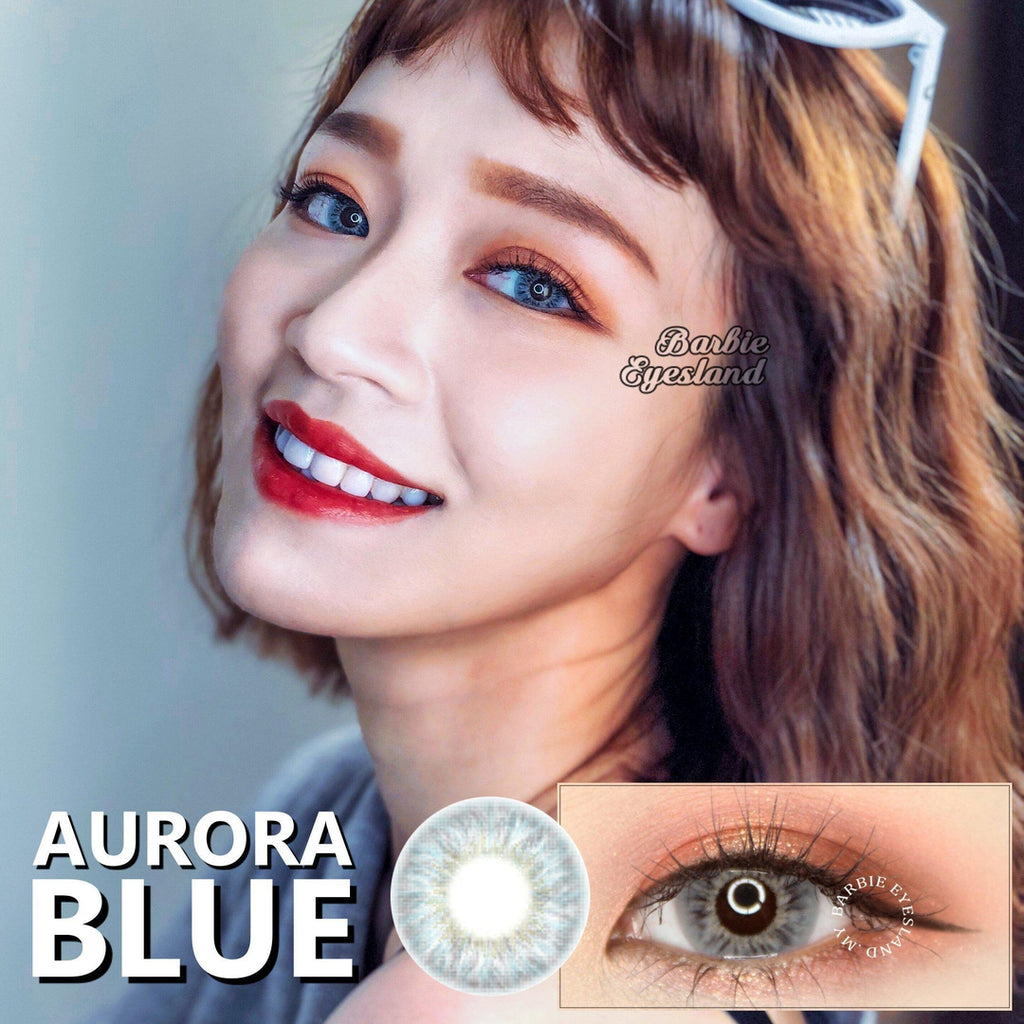 Aurora Blue 14.5mm-Contact Lenses-Barbie Eyesland Contact lens