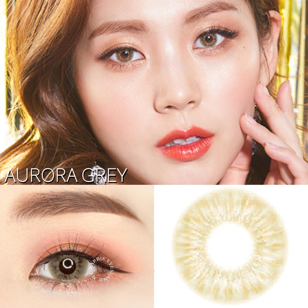Aurora Grey 14.5mm-Contact Lenses-Barbie Eyesland Contact lens