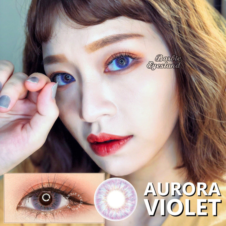 Aurora Violet 14.5mm-Contact Lenses-Barbie Eyesland Contact lens