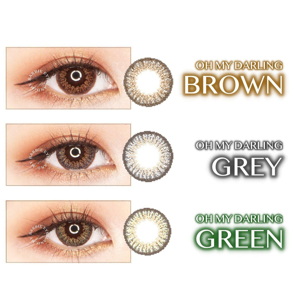 Oh My Darling BROWN 15mm-Contact Lenses-Barbie Eyesland Contact lens