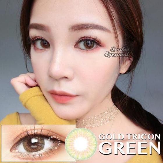 Gold Tricon Green 14.2mm