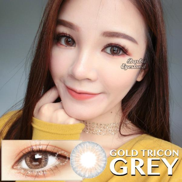 Gold Tricon Grey 14mm (14.2mm)-Contact Lenses-Barbie Eyesland Contact lens
