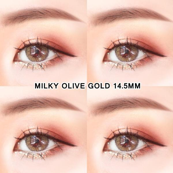 Milky Olive Gold 14.5mm