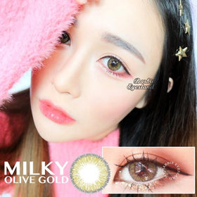 Milky Olive Gold 14.5mm-Contact Lenses-Barbie Eyesland Contact lens