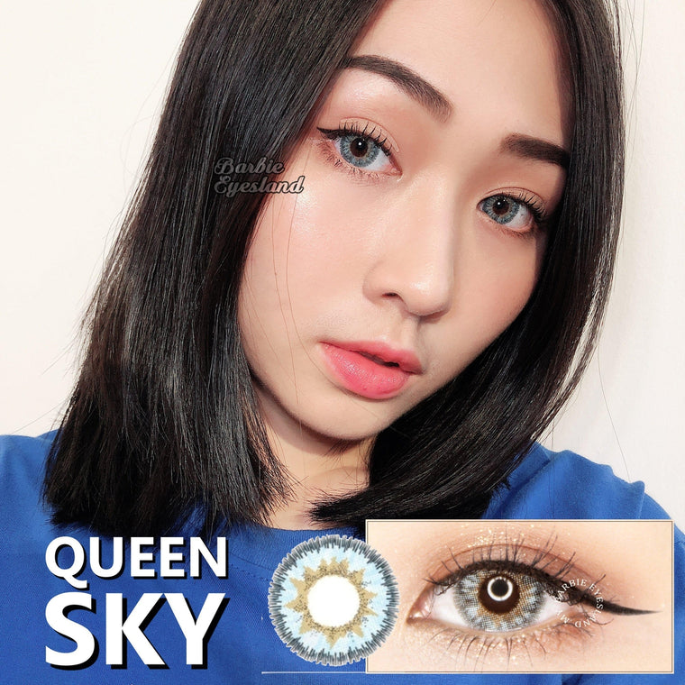 Queen 3tone SKY 16.5mm-Premium Contact Lenses-Barbie Eyesland Contact lens