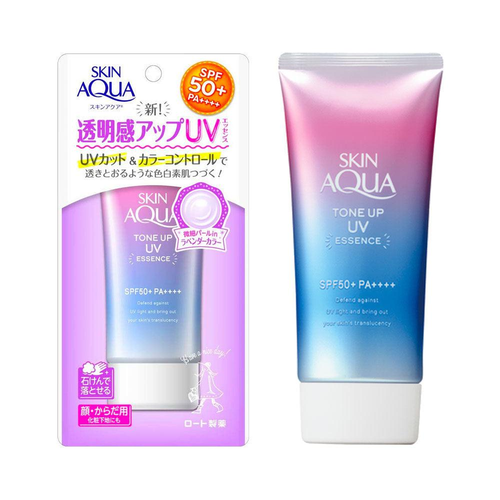 【Limited Stock】Skin Aqua Tone Up Uv Essence SPF 50+ PA++++ 80g 薰衣草透明感提亮防晒乳霜
