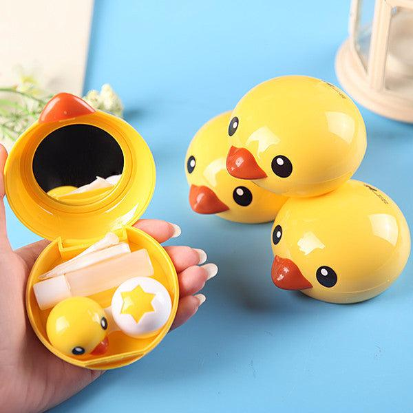 2 Set of Duck Duck Design Travel Lens Case Set-Premium Contact Lenses-Barbie Eyesland Contact lens