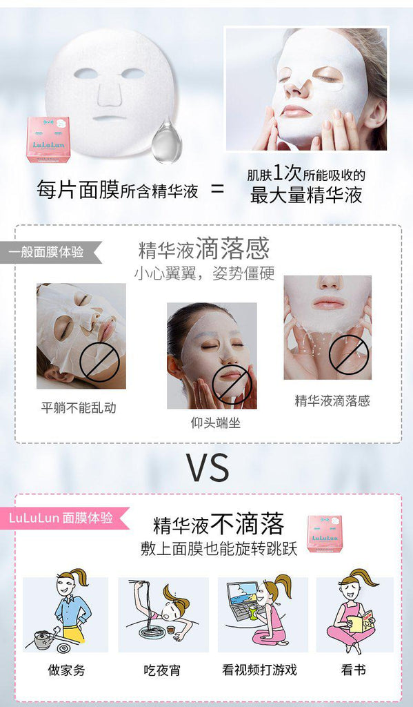 LULULUN FACE MASK 36/32sheet-Beauty Products-Barbie Eyesland Contact lens
