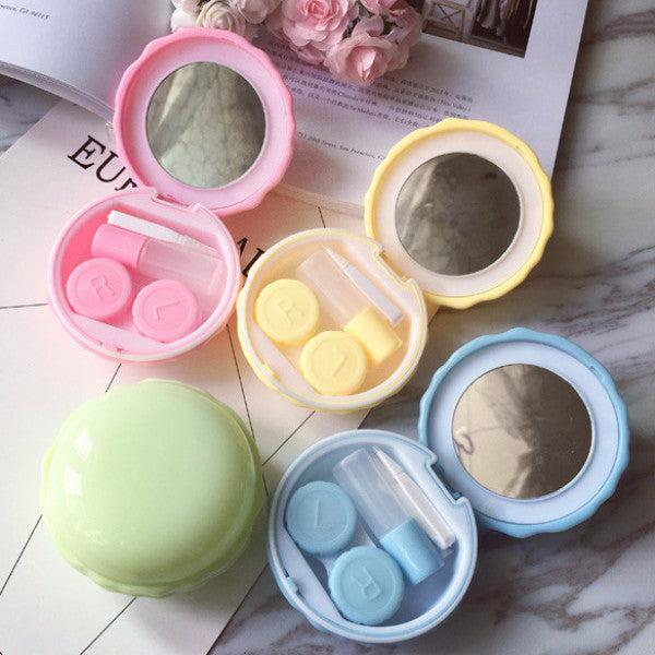2 Set of Macaroon Design Travel Lens Case Set(Random Color)-Premium Contact Lenses-Barbie Eyesland Contact lens