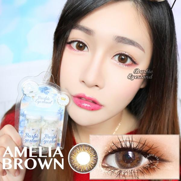 Amelia brown 15mm-Contact Lenses-Barbie Eyesland Contact lens