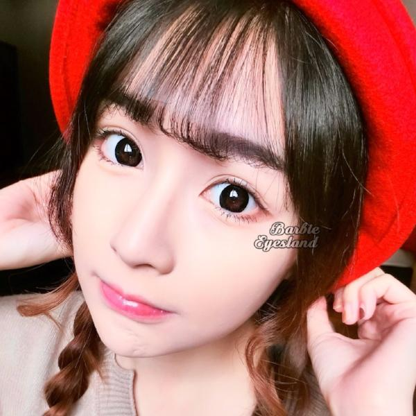 Ricoo Black 16.5mm-Contact Lenses-Barbie Eyesland Contact lens