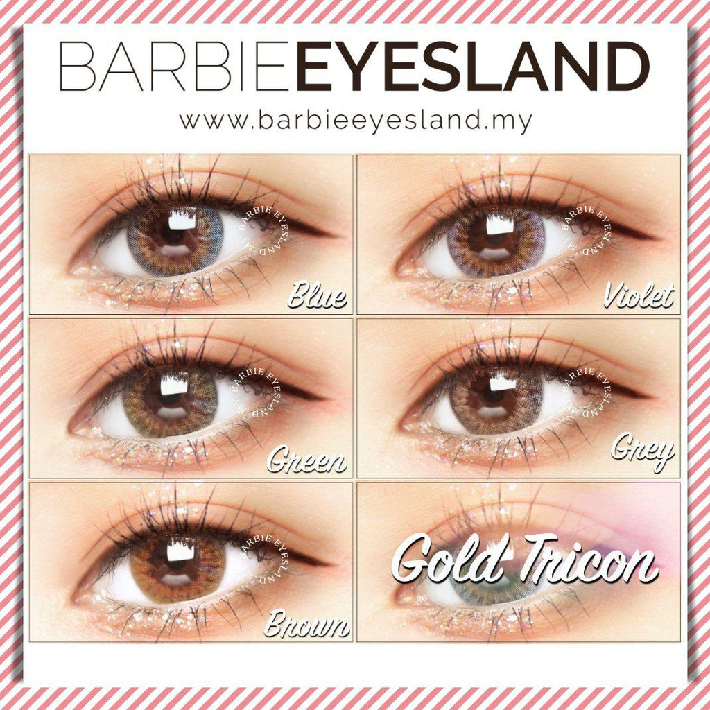Gold Tricon Green 14mm (14.2mm)-Contact Lenses-Barbie Eyesland Contact lens