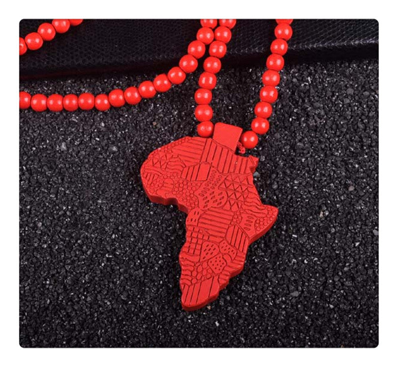 Three color fashion design man map of africa map charm hip hop three color fashion design man map of africa map charm hip hop pendant necklace wood jewelry aloadofball Image collections