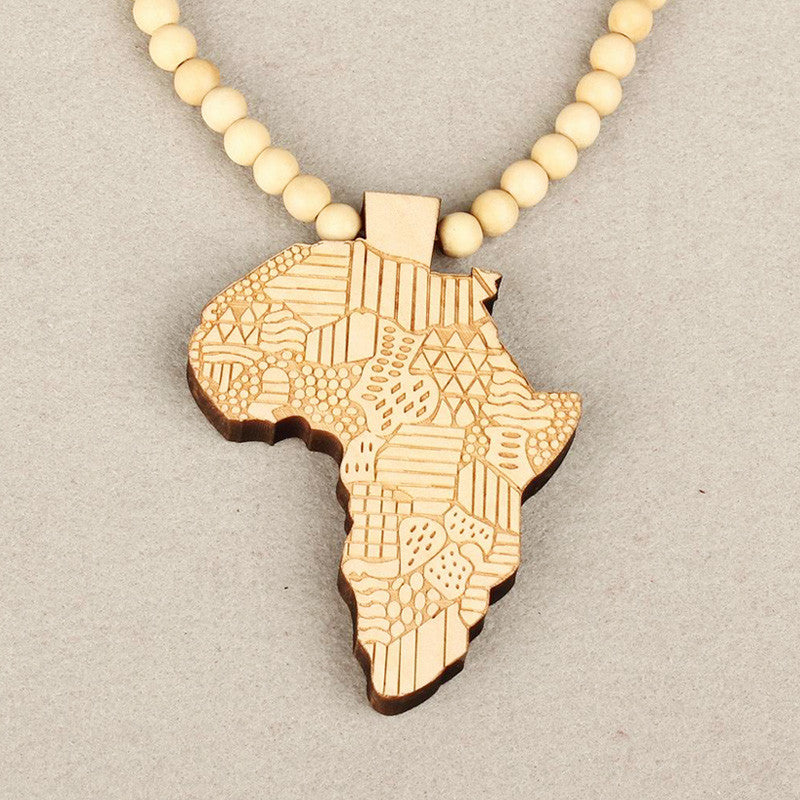 Stylish womens fashion wooden africa map pendant necklace unisex stylish womens fashion wooden africa map pendant necklace unisex sweater chain fashion jewelry accessories gifts s1003 aloadofball Image collections
