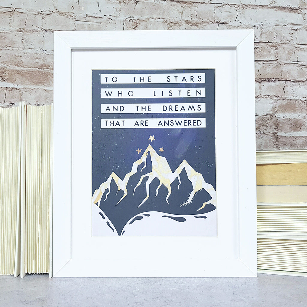 acomaf, a court of mist and fury book quote wall art print, tog, throne of glass, sarah j maas inspired fanart
