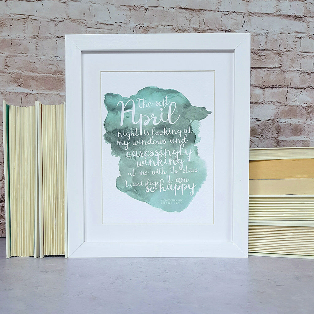 Literary Birthstone Prints
