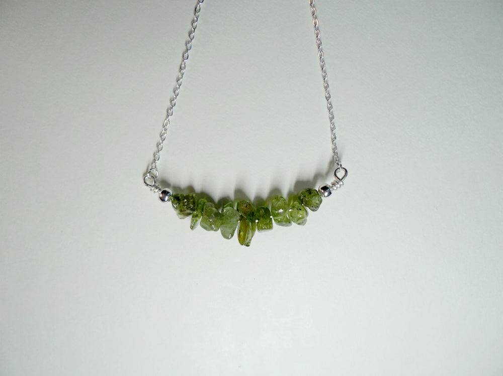 August Birthstone Peridot Necklace