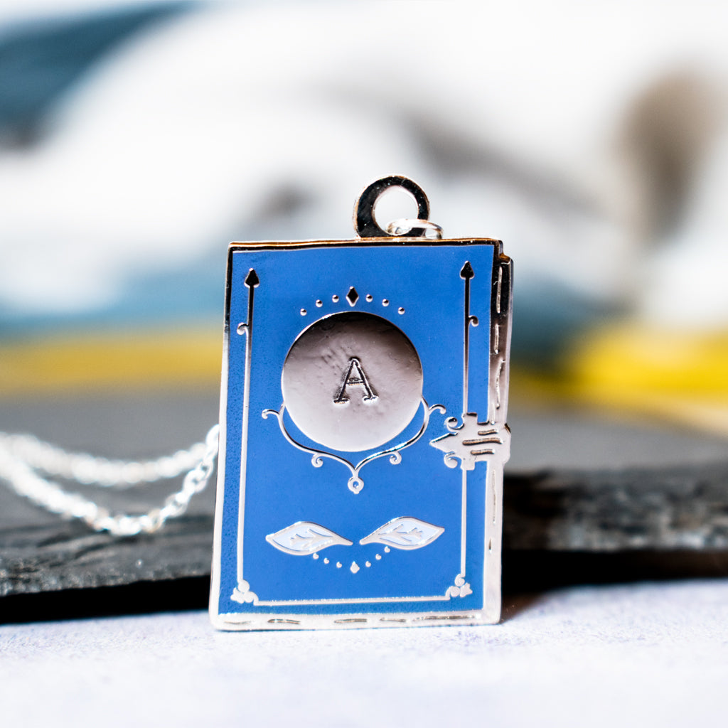 Personalised Book Enamel Necklace