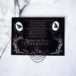 Edgar Allan Poe 'Quoth the Raven' Collar Clips