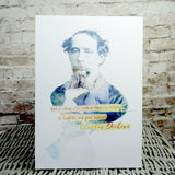 Charles Dickens Literary Quote Art Print