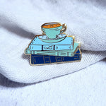 Books and Tea Enamel Pin