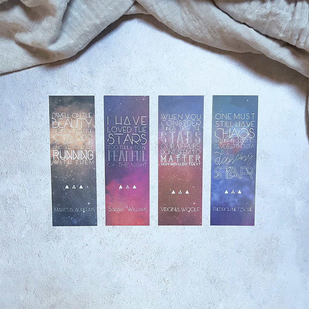 Literary Quote Galaxy Bookmarks