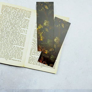 Floral Literary Quote Bookmarks