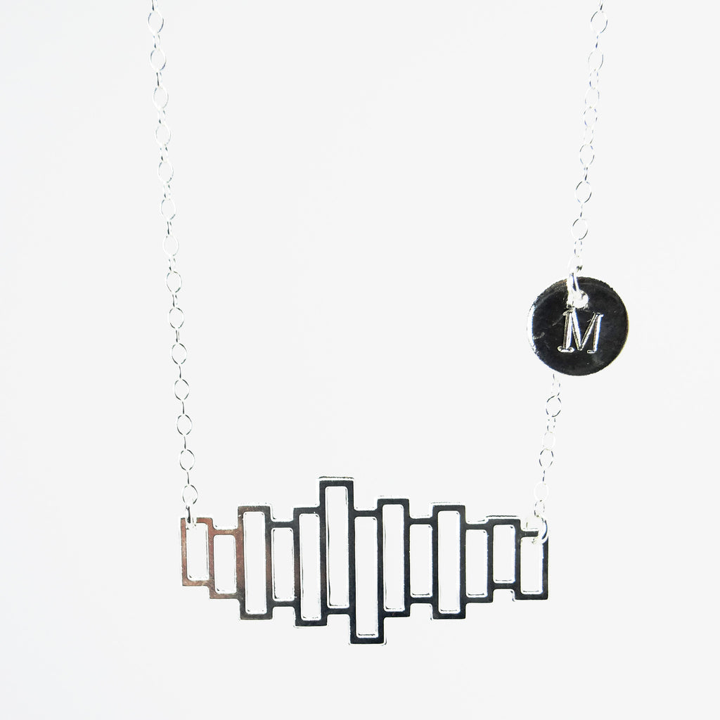 JANE | Sterling Silver Personalised Bookshelf Necklace