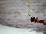 January Birthstone Garnet Necklace
