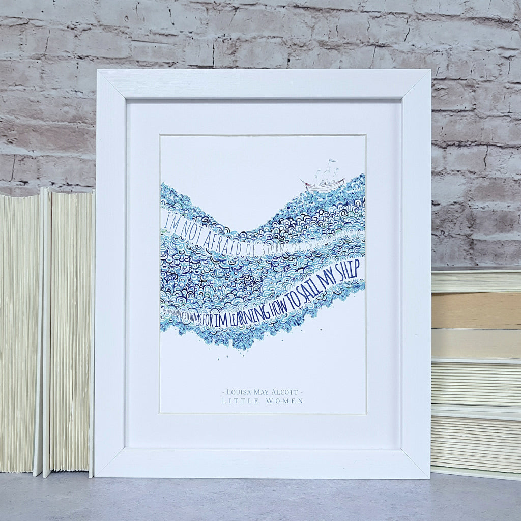 Louisa May Alcott 'Little Women' Print