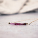 July Birthstone Ruby Necklace