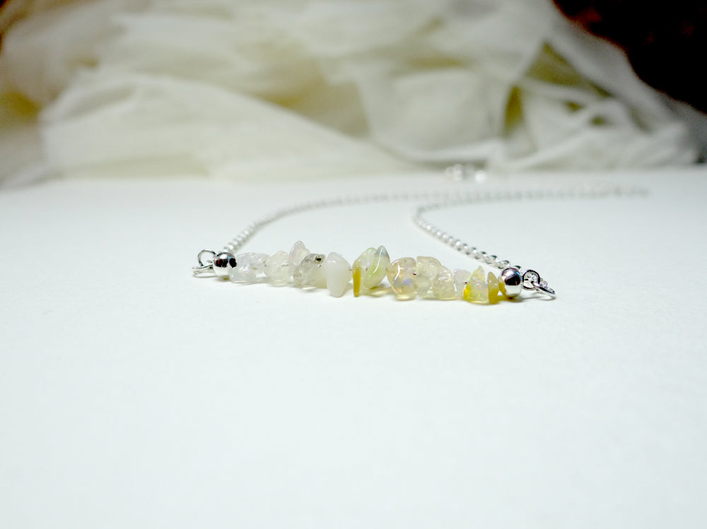 October Birthstone Opal Necklace