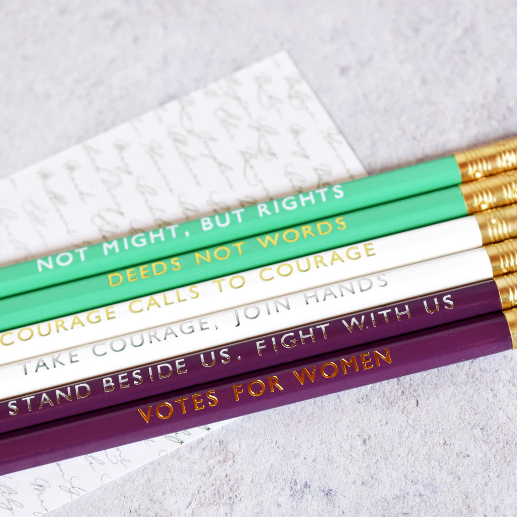 Suffragette Pencil Set