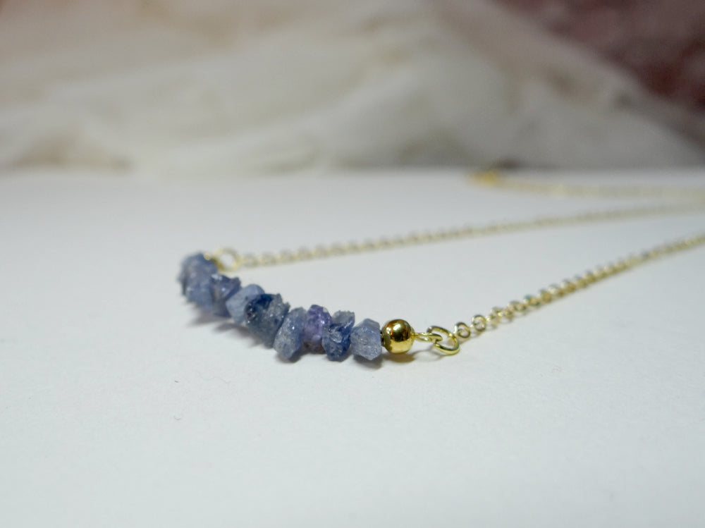 September Birthstone Sapphire Necklace