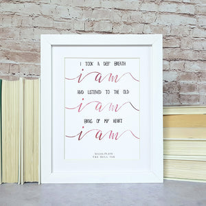 Sylvia Plath 'The Bell Jar' Print