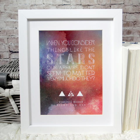 Virginia Woolf Literary Quote Art Print