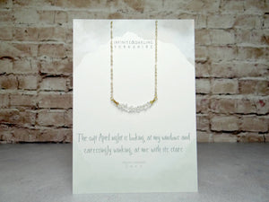 April Birthstone Herkimer Diamond Necklace