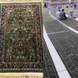 Masjid Al Haram inspired prayer mat from Medina - Ibadah London islamic muslim gift