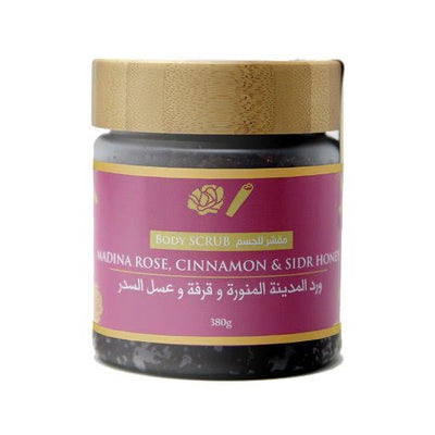 Madina Rose, Cinnamon and Sidr Honey Face and Body Scrub - 350g - Ibadah London