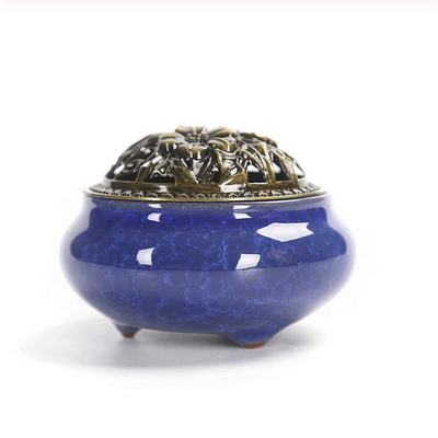 Ceramic Incense Burner - Royal Blue - Ibadah London