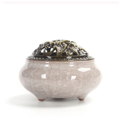 Ceramic Incense Burner - Mink - Ibadah London